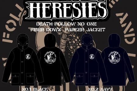 HERESIES DEATH FOLLOW NO ONE Fiber Down Parker Jacket Reservation