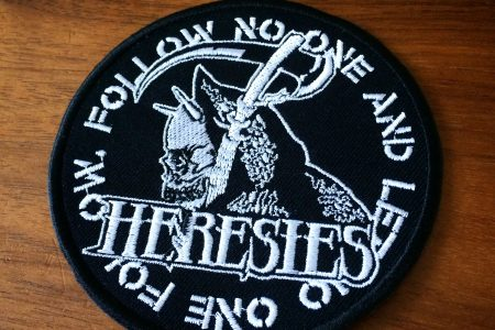HERESIES DEATH FOLLOW NO ONE Embroidery Patch