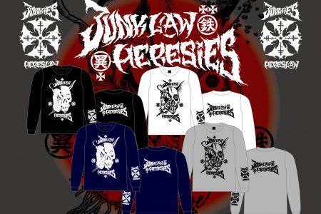 JUNKLAW x HERESIES Artwork by MxExG 2018 RESERVATION