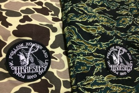 HERESIES DEATH NO FOLLOW ONE CAMO SHORTS SAMPLE